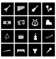 black music instruments icon set vector image