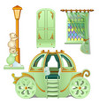a set of furniture for a childs room is isolated vector image