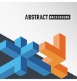 Abstract 3D Orange and Blue element background vector image