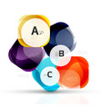 abstract gem stones vector image