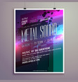 abstract music flyer template for new year vector image vector image