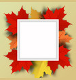autumn sale background layout decorate with vector image vector image