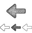 Back icon set - sketch line art vector image vector image