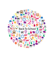 Back to School Circle Seamless children background vector image