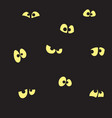 black background with yellow eyes vector image
