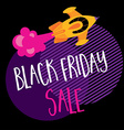 Black friday poster and background vector image vector image