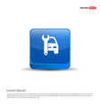 car repair icon - 3d blue button vector image