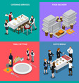 catering services isometric design concept vector image vector image