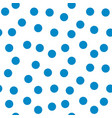 circle blue seamless pattern vector image