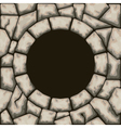 Circle frame with stone seamless pattern vector image