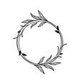 circle leaf icon design template vector image