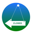 closed sign white icon in vector image vector image
