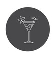 Cocktail icon outline vector image vector image