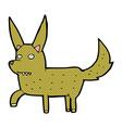 comic cartoon wild dog vector image vector image