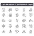 customer relationship management concept line vector image vector image