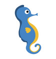 cute seahorse character icon vector image vector image