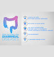 diarrheal diseases icon design infographic health vector image vector image