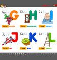 educational cartoon alphabet letters set vector image vector image