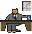 fat cat in office vector image vector image
