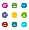 fate of the military icons set flat style vector image