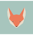 Fox face icon vector image