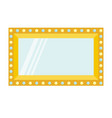 golden retro makeup mirror with electric light vector image vector image