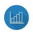 growth chart flat linear long shadow icon vector image