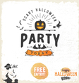 Halloween Party Design Elements and Badges vector image vector image