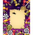 Halloween sweets card vector image vector image