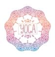 hand drawn ornamental colorful yoga badge vector image vector image