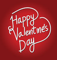 happy valentines day lettering card vector image vector image