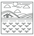 house and field village landscape rural vector image vector image
