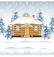 House in wood vector image vector image