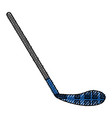 ice hockey stick vector image vector image