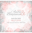 invitation to wedding abstract romantic rose vector image vector image