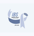 irritable bowel syndrome ibs awareness month vector image vector image