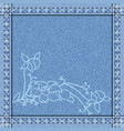 jeans border vector image