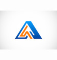 letter a triangle logo vector image