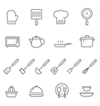 Lines icon set - kitchenware vector image vector image