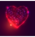 Love heart background from beautiful bright stars