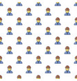 Male miner pattern seamless vector image