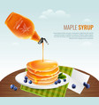 maple syrup concept vector image vector image