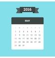 May 2016 Calendar vector image vector image