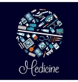 Medical symbols in a shape of pill flat icon vector image vector image