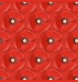 memorial day seamless pattern with paper cut poppy vector image vector image