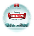 merry christmas holidays snowball vector image