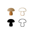 mushrooms icon logos in the style of pixel art vector image vector image