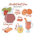 non alco mulled wine merry christmas vector image