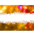 Orange Christmas background with copyspace EPS 8 vector image