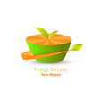 orange fresh drink vector image vector image